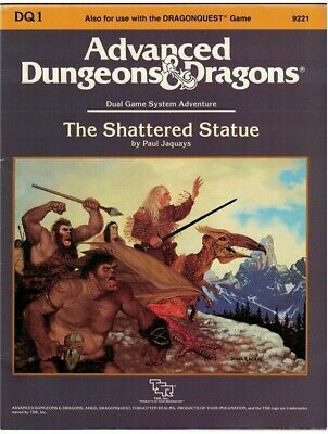 Advanced Dungeons & Dragons The Shattered Statue RPG AD&D • 29.99£