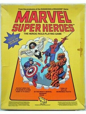 Marvel Super Heroes The Heroic Role-Playing Game TSR Basic Set RPG • 32.99£