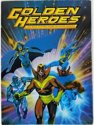 Golden Heroes The Role Playing Game Of Super Heroes Box Set RPG Roleplaying (b) • 38.99£