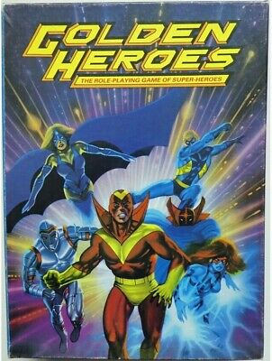 Golden Heroes The Role Playing Game Of Super Heroes Box Set RPG Roleplaying • 32.99£