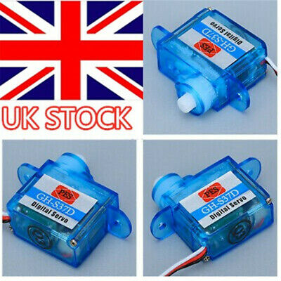 4pcs Mini Digital 3.7g RC Servo For RC Helicopter Airplane Foamy Plane Heli UK • 9.59£