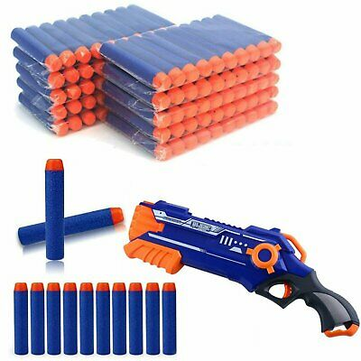 100pcs Gun Soft Refill Bullets Darts Round Head Blasters For Nerf N-strike Toy • 6.93£
