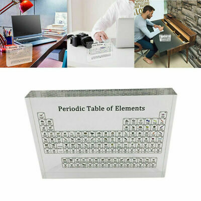 UK Kids Periodic Table Display With Elements Acrylic Decor Student Teacher Gifts • 13.59£