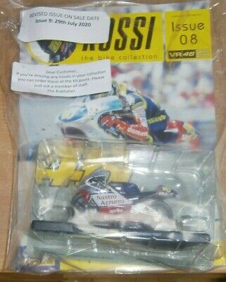 Panini Rossi Bike Collection Partwork #8 Diecast 1:18 Scale Model Aprilla RS 125 • 16.49£