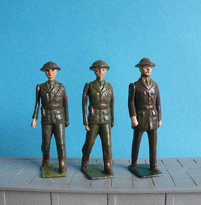 3 X Unboxed Britains Military Lead 1:32 Scale - British Army Officers • 3£