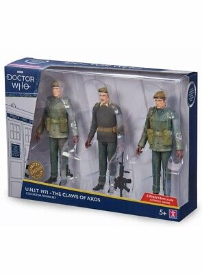 Pre-Order Dr Who UNIT The Claws Of Axos Collector Figure Set B&M 2020 • 44.99£