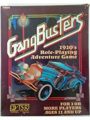 Gangbusters 1920's Role Playing Adventure Game Box Set TSR RPG (b) • 27.99£