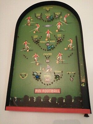 Vintage Kay Pin Football Wooden Bagatelle Game Great Condition Football Theme • 35£