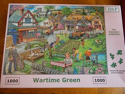 HOP DeLuxe Jigsaw Puzzle 'Wartime Green' - 1000 Pieces - Fantastic A* Condition • 2.20£