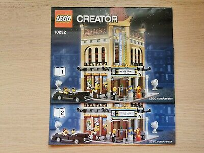 Lego Creator 10232 Palace Cinema - INSTRUCTIONS/MANUAL ONLY - Brand New • 10.99£