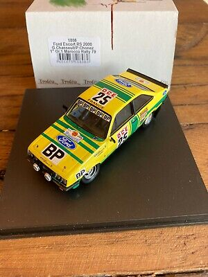 Trofeu 1:43 Ford Escort RS2000 MK III Morocco Rally 1979 BP Chasseuil #1808 • 14.50£