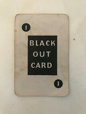 Vintage Card Game BLACK-OUT WW2 Card Game. • 5£