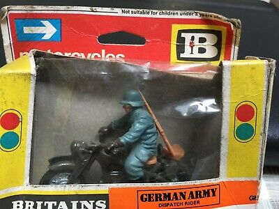 Britains German Army Dispatch Rider 9679. Never Played With. Box Fragile. • 0.99£