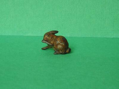 GEORG HEYDE VINTAGE PRE WAR 1930s HOLLOW CAST COLD PAINTED LEAD RABBIT • 29.99£