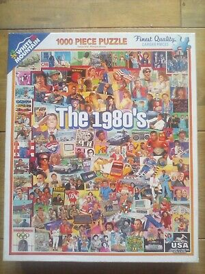 1000 Piece Jigsaw Puzzle The 1980's By White Mountain, U.S.A. Complete/Excellent • 5.99£