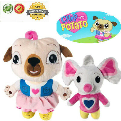New Chip And Potato Toys Pink Dog  Mouse Soft Stuffed Animal Doll Gift For Kids • 15.99£