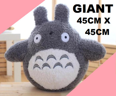GIANT 45x45cm Fluffy My Neighbour Totoro Plush Kawaii Soft Plushie Toy Gift • 27.99£