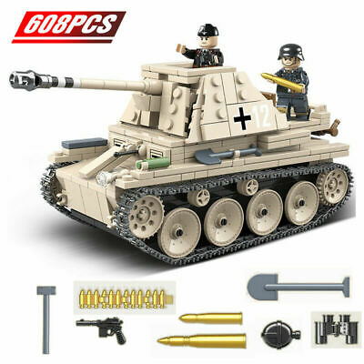 608 Pcs Military Building Blocks German Self Anti Tank Bricks WW2 Army Soldier • 14.97£