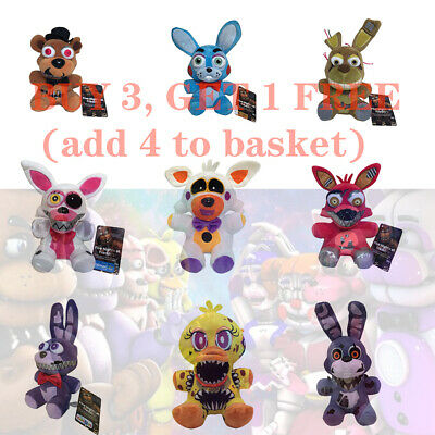 7 FNAF 20types Toys Five Nights At Freddy's Horror Game Plush Doll Kid Xmas Gift • 6.99£
