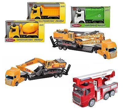 11  Large Construction Vehicle Garbage Truck Lorry Friction Kids Toy Xmas Gift • 11.49£