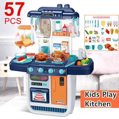 Kids Kitchen Toys Role Play Pretend Cook Set Toy Creative Gift For Boys Girls • 38.99£