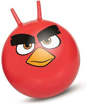 Giant 60cm ANGRY BIRDS Space Hopper Adult & Kids Spacehopper Bouncy Ball & Pump • 11.95£