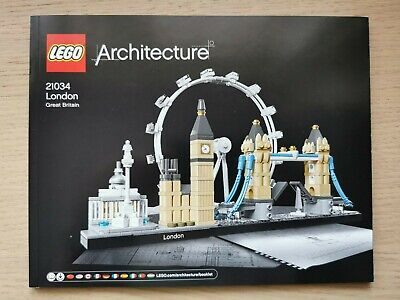 Lego Architecture 21034 London Great Britain - INSTRUCTIONS MANUAL ONLY - New • 2.50£