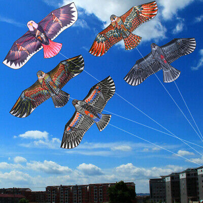 1.1m Flat Eagle Kite With 30m Line Kids Fun Sports Toy UK • 3.88£