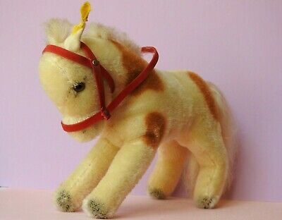 Steiff Vintage 1960-67 Miniature Mohair Plush Pony 1317,00 With Button & Tag • 49.99£