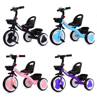 Kids Children Tricycle Baby Ride On Trike 3 Wheels Toddler In/Outdoor Toy Gifts • 27.99£