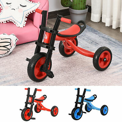 Kids Tricycle Child Learning Bike W/ Adjustable Seat Pedals Handlebars • 21.99£