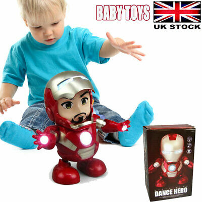 Dancing Iron Man Marvel Avengers Infinity War  Electric Musical Toys Boys Gift  • 10.89£