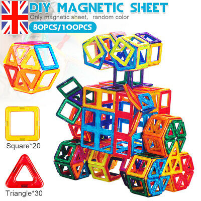 100PCS Magnetic Building Blocks Construction Educational Boys Kids Magic Toys UK • 16.99£