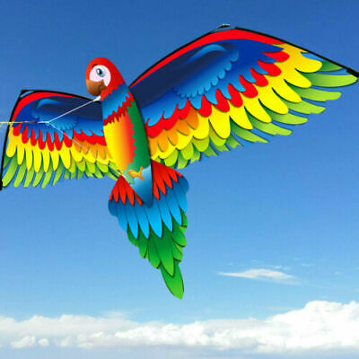 Kids Toy 3D Parrot Kite With Tail Outdoor Flying Activity Game Children Gift • 13.99£