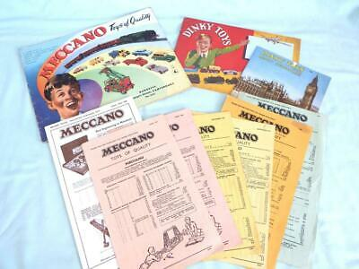 Small Qty Of Meccano Products Catalogues & P/Work (Includes 2 Repros) - See Text • 2.95£