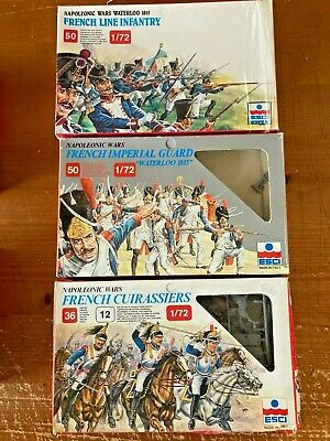 Esci 1/72 Napoleonic Wars French Line Infantry French Cuirassiers Imperial Guard • 25£