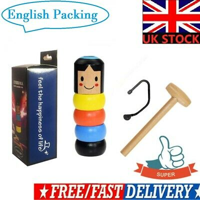 UK Immortal Doll By Unbreakable Wooden Magic Toy The Wooden Stubborn Man Toy New • 4.74£