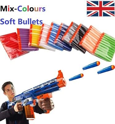 100-400pcs Gun Darts For NERF Toy Guns Soft Refill Bullets Round Head Blasters • 10.48£