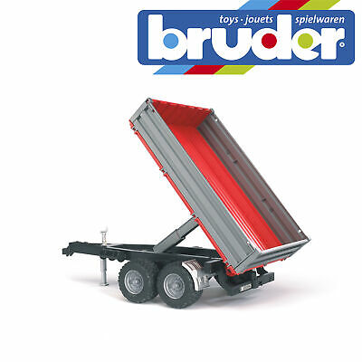Bruder Tractor Tipping Trailer Kids Farm Toy Farming Model Scale 1:16 • 16.99£