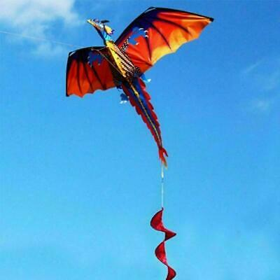 Hot 3D Dragon Kite Single Line With Tail For Adults Kids Hot Outdoor And L7Y8 • 9.28£