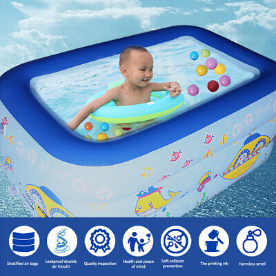 130cm Swimming Pool Garden Outdoor Summer Inflatable Paddling Pools For Kids UK • 12.99£