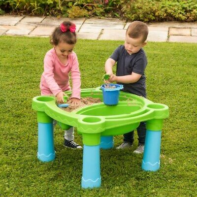 Kid Children Outdoor Indoor Child Sand And Water Play Table With Accessories Fun • 44.99£