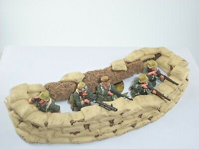 King And Country Ak127 German Afrika Korps Desert Trench Fighters Figure Set • 349.99£