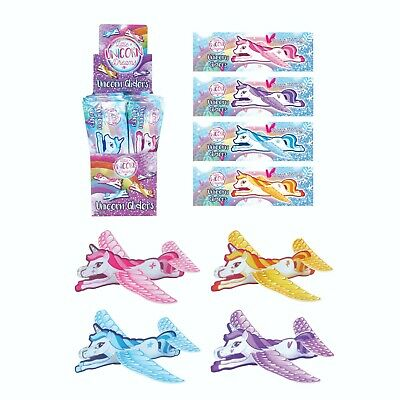 Pack Of 12 Unicorn Flying Gliders Children Party Bag Fillers Prizes • 1.45£