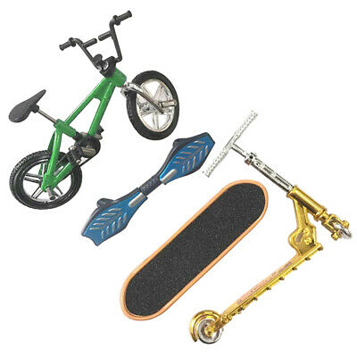 4Pcs Mini Finger Skateboard Fingerboard Bike Scooter Set Kids Toys Gift UK • 4.34£
