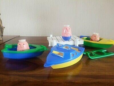 Vintage 1970's Airfix Various Weeble Boats And Sailors • 14.99£