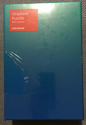 RARE AREAWARE GRADIENT JIGSAW PUZZLE 500 Piece - Blue/Green Colour NEW SEALED • 22£
