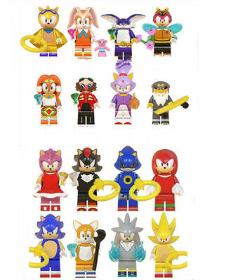 16Pcs Sonic The Hedgehog Minifigure Fit Lego Kids Toy Collection Birthday Gift • 14.88£