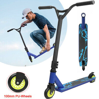 Pro Stunt Scooter Kids Adult Kick Push Outdoor Scooter City Trick Ride Fixed Bar • 29.98£
