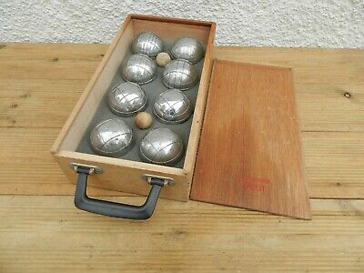 Metal OBUT Dog - Boules X 8 With 2 X Wooden Jacks In Box ~ Free UK Post • 65£